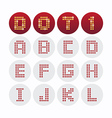Font dot alphabet design vector image