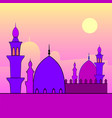 landscape with mosques and sunset vector image