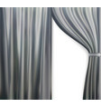 naturalistic image of curtain open curtains gray vector image