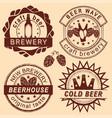 rero beer shop logo emblems and badges set vector image