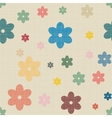 Seamless background of textile with hearts vector image