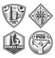 vintage sport bar emblems set vector image vector image