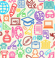 Colorful Education seamless pattern background vector image