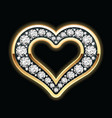 heart in diamonds vector image