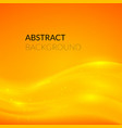Abstract orange background with smooth lines vector image