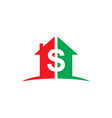 home money dollar business logo vector image