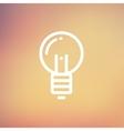 Light bulb thin line icon vector image