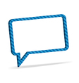 Striped speech bubble vector image