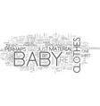 Baby clothes on the cheap text word cloud concept vector image