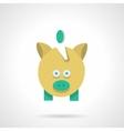 Saving money concept Flat color icon vector image
