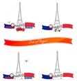 France Paris Eiffel tower vector image
