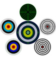 set of targets vector image vector image