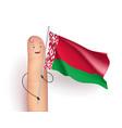 belarus waving flag vector image