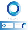 Blue circle logo design vector image