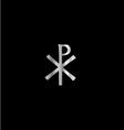 Monogram of Christ - chi rho vector image