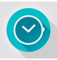 Time clock icon flat design vector image