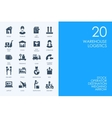 Set of BLUE HAMSTER Library warehouse logistics vector image