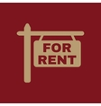 The for rent icon Rent symbol Flat vector image