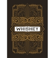 Whiskey label with old frames layered vector image vector image