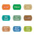 sale promotion tear banner sticker label set vector image