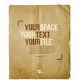 Vintage paper with space for text or image design vector image