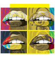 beautiful lips vector image vector image