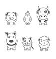 monochrome of animals vector image