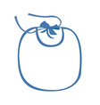 Baby bib blue vector image