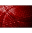 dark red tech background vector image vector image