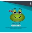 frog emoticon design vector image