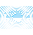 blue clouds on a white background vector image
