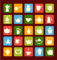 flat coffee tea set Coffee and tea time vector image