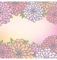 floral background with chrysanthemum vector image