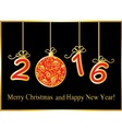 gold New Year background vector image