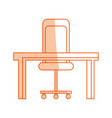 isolated desk and chair vector image