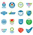 large set of logos insurance vector image