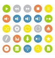 Light colors multimedia icons set vector image