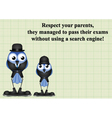 Respect your parents vector image