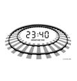 Railway clocks vector image vector image