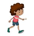 boy walking vector image vector image