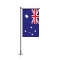 Australia flag hanging on a pole vector image