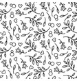 black line floral 8 march seamless pattern vector image vector image