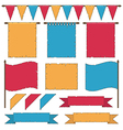 banners and flags vector image vector image