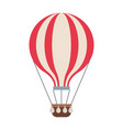 hot air balloon adventure fly travel vector image