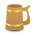 wooden beer mug 01 vector image vector image