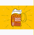 oktoberfest hand drawn emblem label with beer vector image