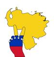 Venezuela hand signal vector image vector image