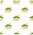 Seamless pattern sea island with palm trees and vector image