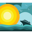 cruise ship vacation vector image vector image