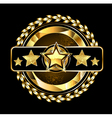 Emblem with Golden Stars vector image vector image